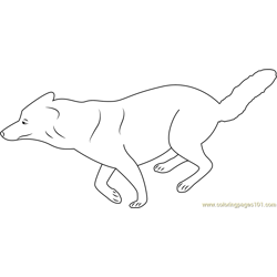 Running Wolf Free Coloring Page for Kids