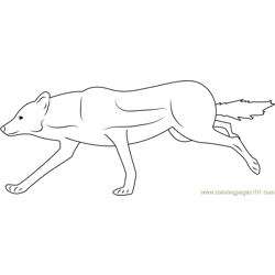 Wolf Female Free Coloring Page for Kids