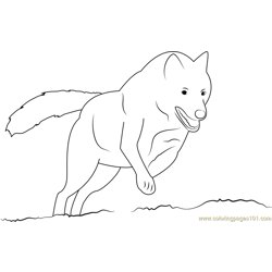 Wolf On Hunting Free Coloring Page for Kids