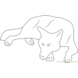 Wolf Sleep by Hecallsmelovedeath Free Coloring Page for Kids
