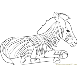 Zebra Relaxing Free Coloring Page for Kids