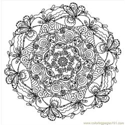 Mandala (1) Free Coloring Page for Kids