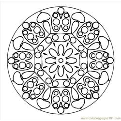 Mandala (2) Free Coloring Page for Kids