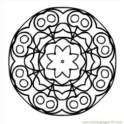 Mandala (3) Free Coloring Page for Kids