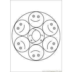 Mandalas 01 Free Coloring Page for Kids