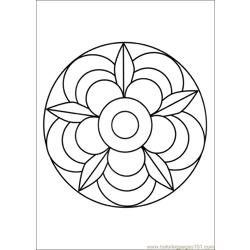 Mandalas 02 Free Coloring Page for Kids