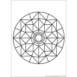 Mandalas 03 Free Coloring Page for Kids