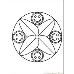 Mandalas 04 Free Coloring Page for Kids