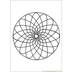 Mandalas 05 Free Coloring Page for Kids
