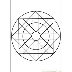 Mandalas 06 Free Coloring Page for Kids