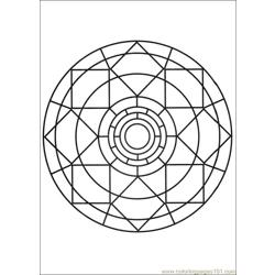 Mandalas 07 Free Coloring Page for Kids