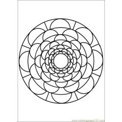 Mandalas 09 Free Coloring Page for Kids