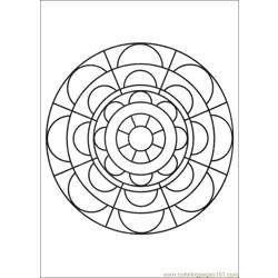 Mandalas 29 Free Coloring Page for Kids