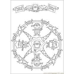 Mandalas 43 Free Coloring Page for Kids