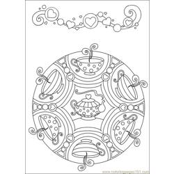 Mandalas 44 Free Coloring Page for Kids