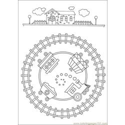Mandalas 46 Free Coloring Page for Kids