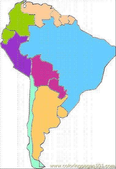 south america coloring page free maps coloring pages