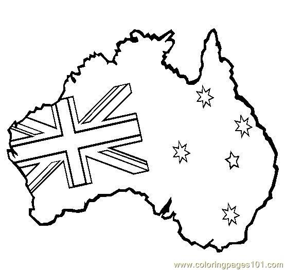 Australian map Coloring Page