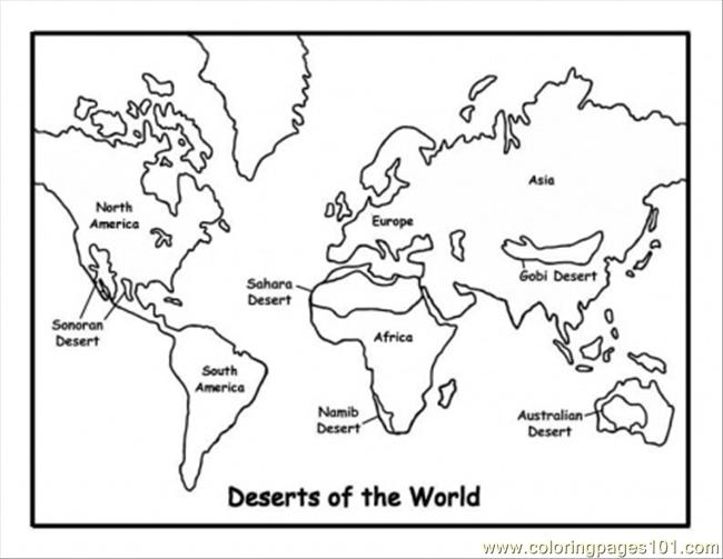 Map Of Deserts Coloring Page - Free Maps Coloring Pages ...