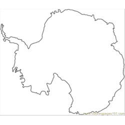 Antarctica Map coloring page