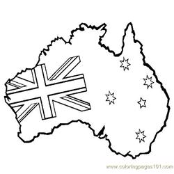 Australian map Free Coloring Page for Kids
