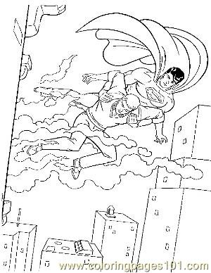 Superman19 Coloring Page