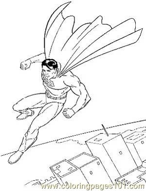 Superman30 Coloring Page