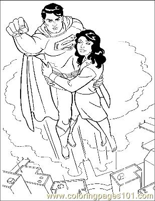 Superman35 Coloring Page