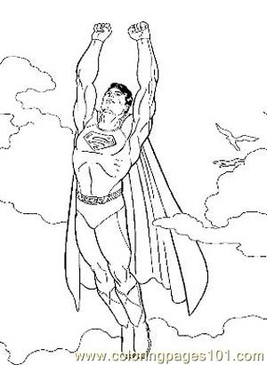 Superman3 Coloring Page Free Marvel Comics Coloring