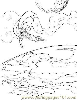 Superman40 Coloring Page