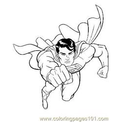Superman27 Free Coloring Page for Kids