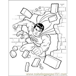Superman32 Free Coloring Page for Kids