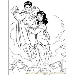 Superman35 Free Coloring Page for Kids