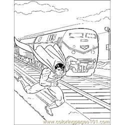 Superman37 Free Coloring Page for Kids