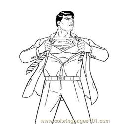 Superman5 coloring page