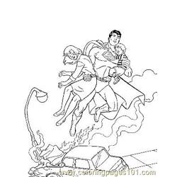 Superman7 coloring page