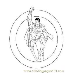 Superman8 coloring page