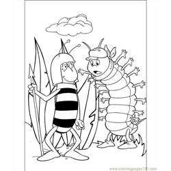 Friends Of Maya Coloring Page