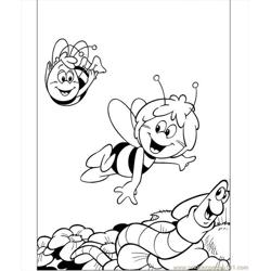 Maya Is Flying With Willy Coloring Page