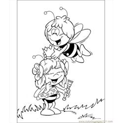 Maya With Her Friend Coloring Page Free Coloring Page for Kids
