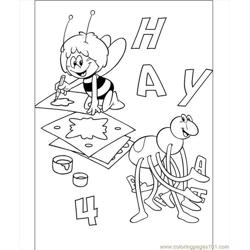 Mays Makes The Picture Coloring Page