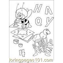 Maya The Bee 13 M Free Coloring Page for Kids