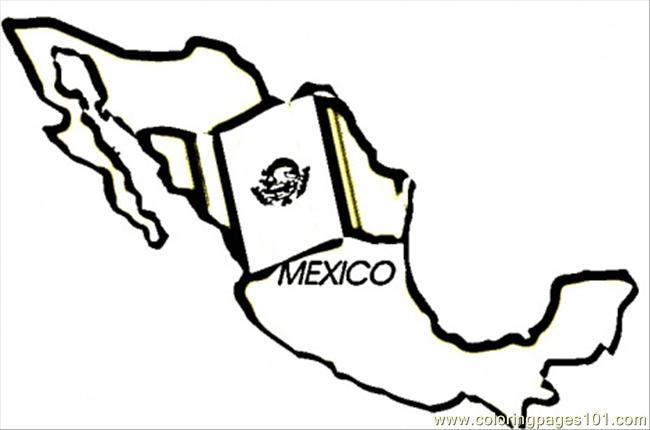 Mexico Map Coloring Page Free Mexico Coloring Pages