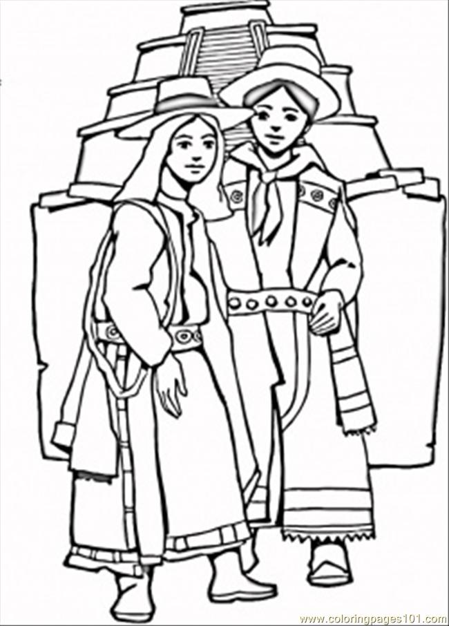 Aztec Coloring Pages Pdf : Aztec coloring page free mexico pages