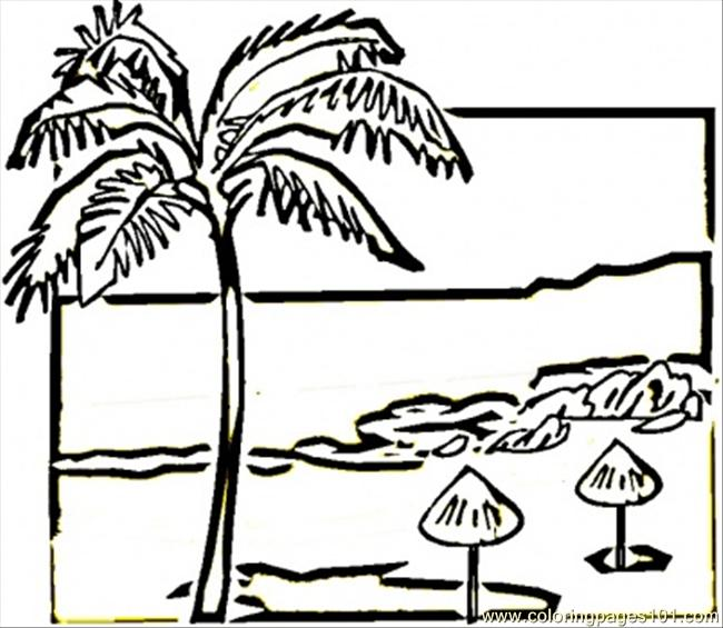 beach of mexico coloring page