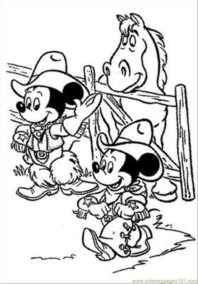 Mickey Mouse07 Coloring Page Free Mickey Mouse Coloring