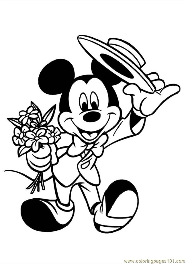 Mickey Mouse 004 Coloring Page
