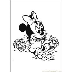 Minnie coloring page