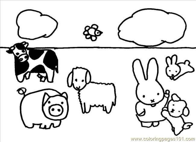 Kinderboerderij Coloring Page - Free Miffy Coloring Pages ...