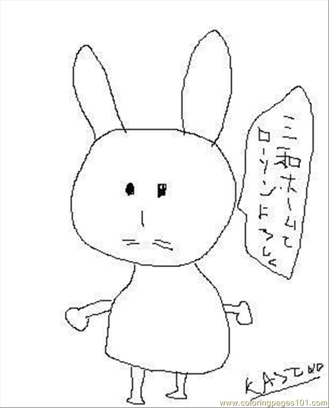 Miffy Coloring Page - Free Miffy Coloring Pages : ColoringPages101.com